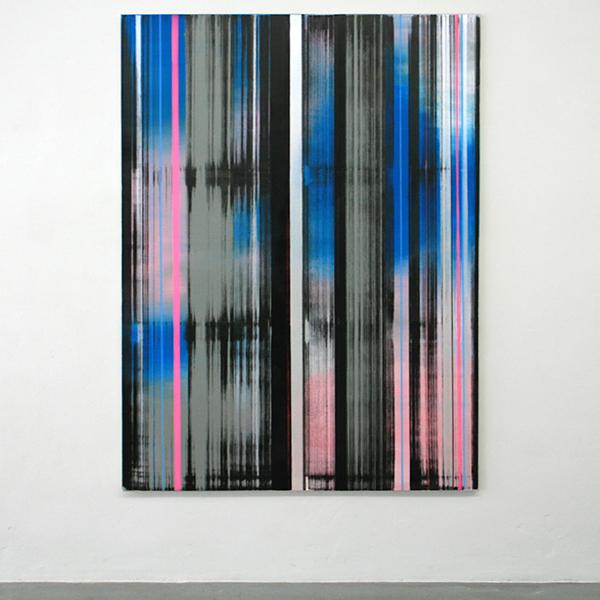 Mike Ottink - Entangled - 200x150cm Inkt en acrylverf op canvas