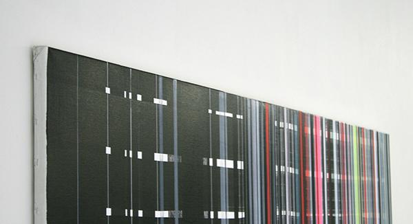 Mike Ottink - Preconscious Processing - 200x120cm Inkt en acrylverf op canvas (detail)