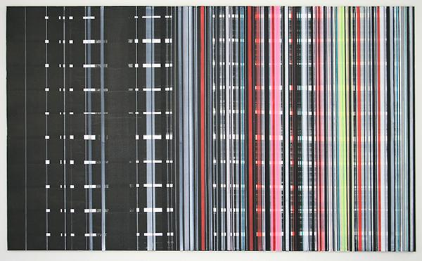 Mike Ottink - Preconscious Processing - 200x120cm Inkt en acrylverf op canvas