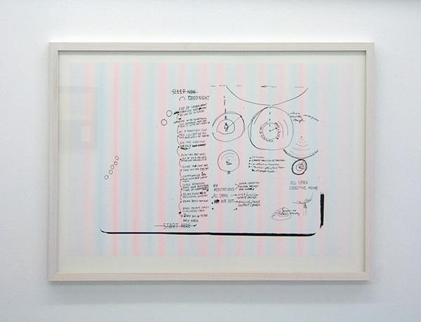Navid Nuur - Before Going To Bed - 73x53cm Zeefdruk met tandpasta (Colgate en Sumigaki Zwart) op papier
