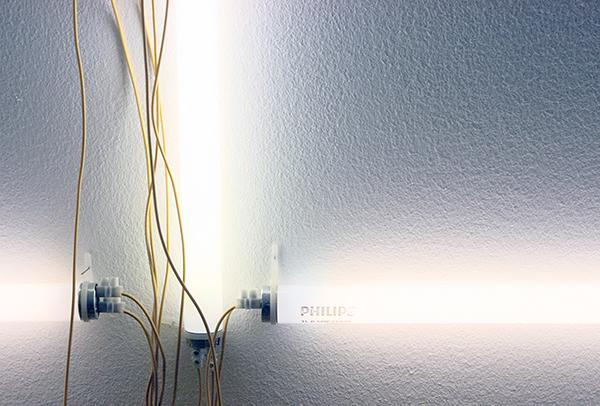 Navid Nuur - Tentacle Thought N 5 (Hocus Focus) - Aangepaste lichtbakken, kabels en gereedschap 2006-2010 (detail)