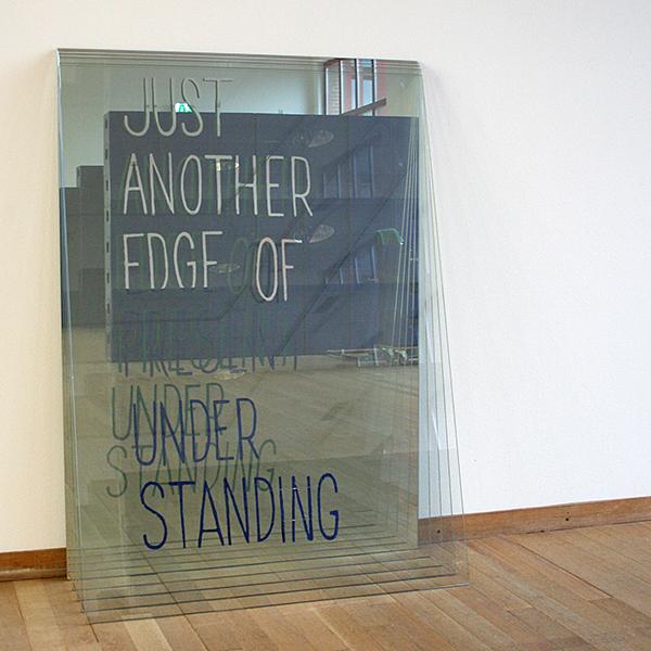 Navid Nuur - Untitled (Never Mind the Map Never Map the Mind) - Deels afgekrabde spiegels 2009-2013