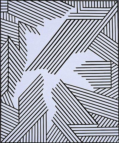 Nicholas Krushenick - Untitled - 36x30inch Acrylverf op linnen