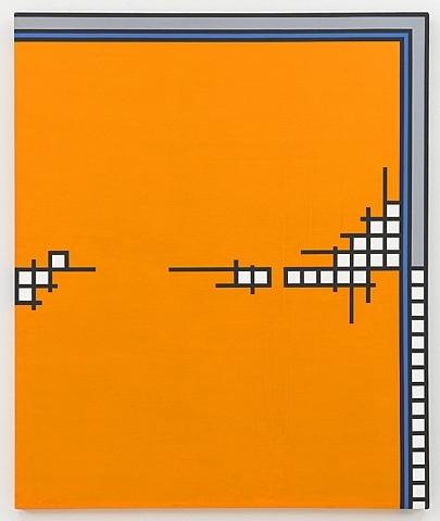 Nicholas Krushenick - Wire Mill - 60x50inch Acrylverf op canvas