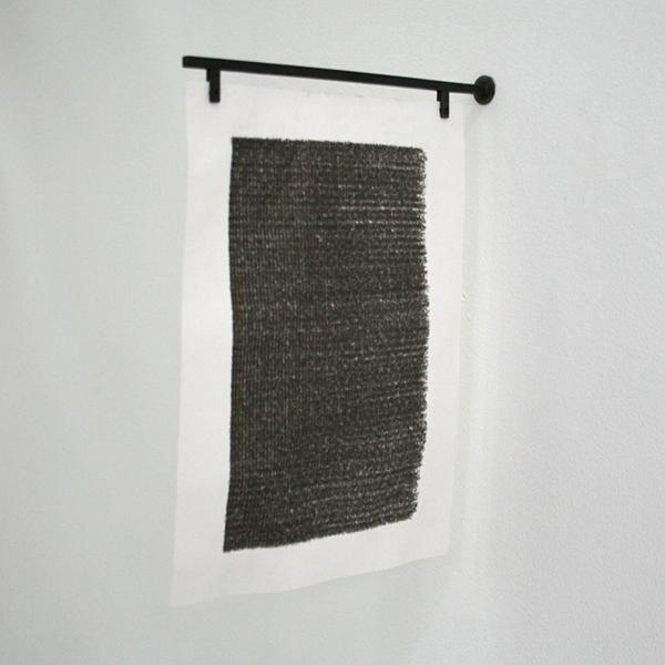 Nickel van Duijvenboden - Notes of 2011, Superimposed (In Progress) - 23x32cm Typmachine inkt op papier en metaal