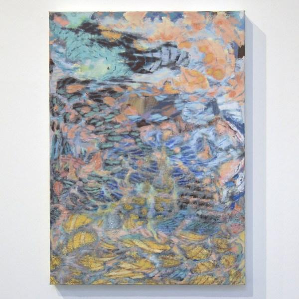 Omar Koubaa - Past the Edge of Circumstances 03 - 70x50cm Acrylverf op doek