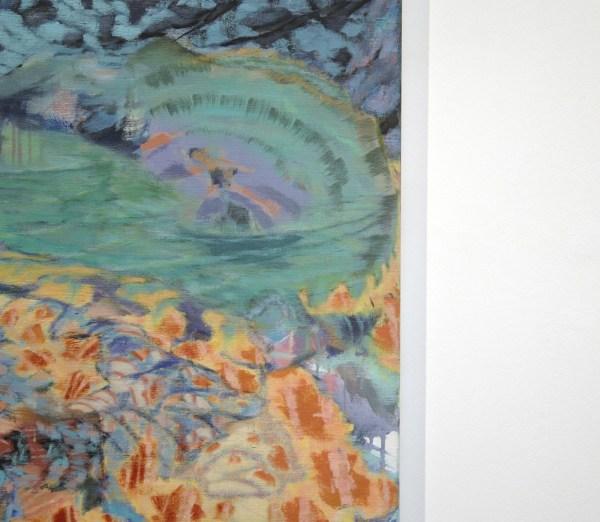 Omar Koubaa - Past the Edge of Circumstances 17 - 200x200cm Acrylverf op doek (detail)