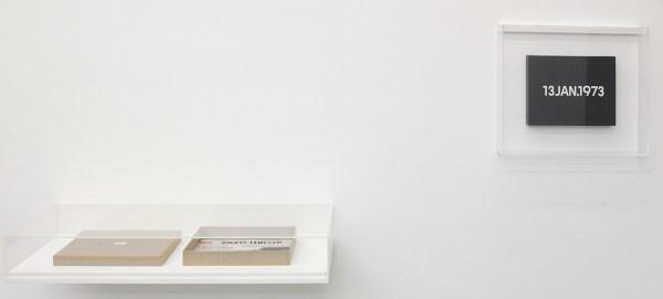 On Kawara - 13 jan 1973 - 27x33x4cm Acrylverf op doek en bijbehorende documentatie
