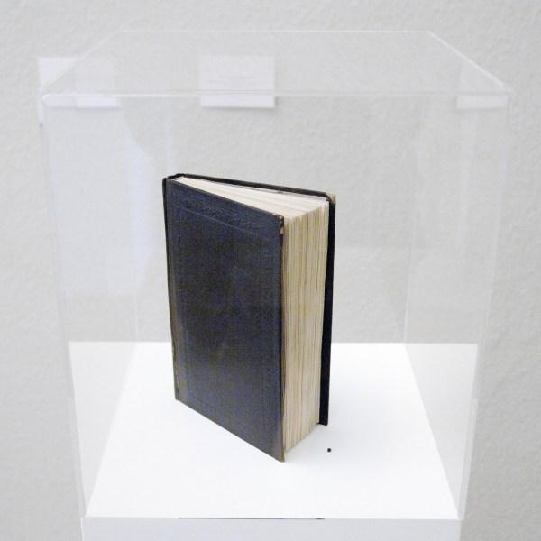 Oscar Santillan - Lost Star - Door chemisch proces gebleekt boek en een balletje van de geextraheerde inkt 1860-2012