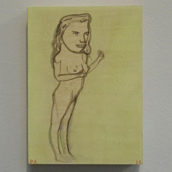 Pat Andrea - Redoutable - 22x16cm Olieverf en caseine op paneel