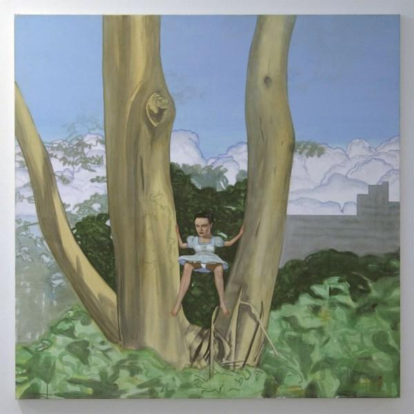 Pat Andrea - Summertree III - 160x160cm Olieverf en caseine op paneel
