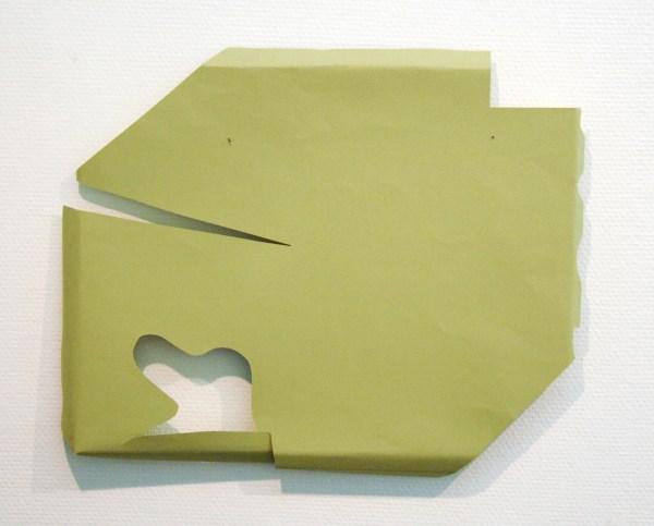 Paul Drissen - Vlak Hoek Hoek Gat - 43x52x5cm Papier