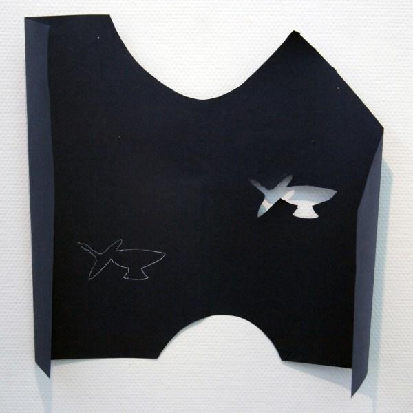 Paul Drissen - Vlak Vouw Lijn Gat - 50x48x14cm Papier