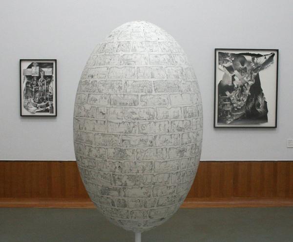 Paul Noble - Egg - Potlood op jesmonite