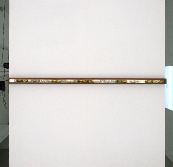 Pawel Kruk - 36-1 Views on Mount Fuji - 140x5cm Negatieven op perspex, licht en hout