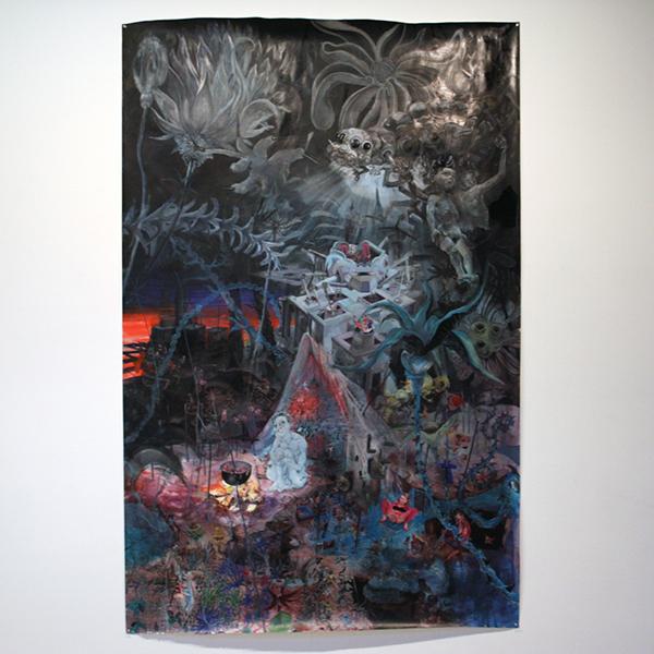 Peter Feiler - Melancholie - 243x149cm Acrylverf op papier