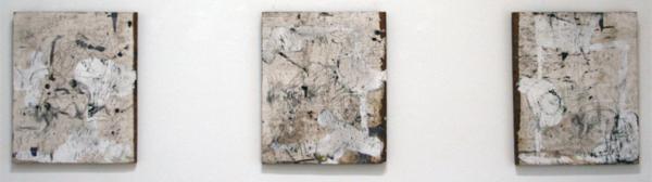 Philippe Vandenberg - Les Trois Scies - Olieverf en potlood op hout