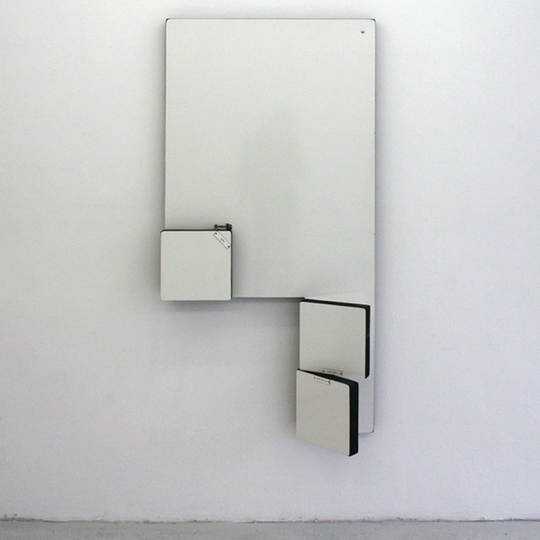 Pieter Engels - Letter-Piece - 85x170cm Hout, Formica (kunststof), chroom en tekst