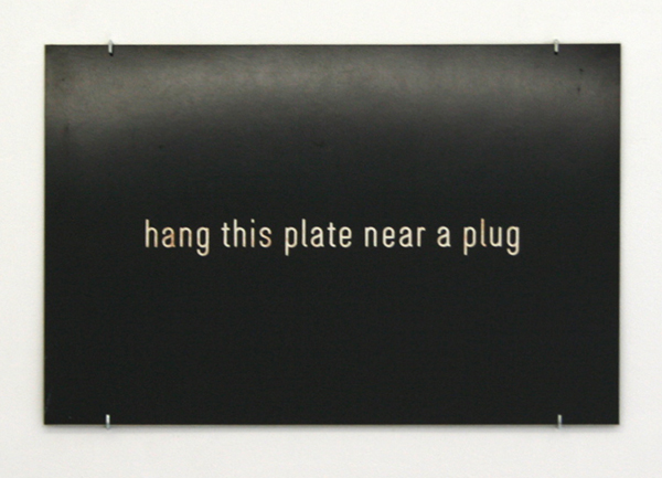 Pieter Engels - Situationplate (Hang This Plate Near a Plug) - 45x60cm Mixed Media