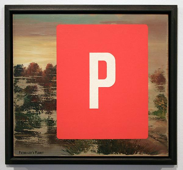Pieter Laurens Mol - Potboilers Planet, Pictorial Liquidation - 23x25cm Loodwit en loodmenie op geschuurd anoniem paneel