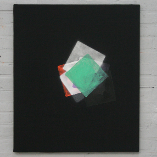 Pim Kersten - Untitled (Trying to find a circle in some squares) - Pigment, acrylbinder, acrylverf en spuitbus op canvas