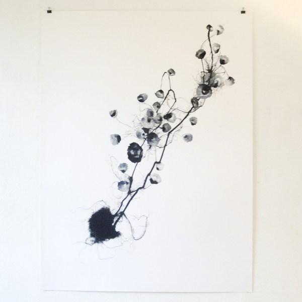 Reinoud van Vught - Hebryden - 161x122cm Inkt en marmerpoeder op papier