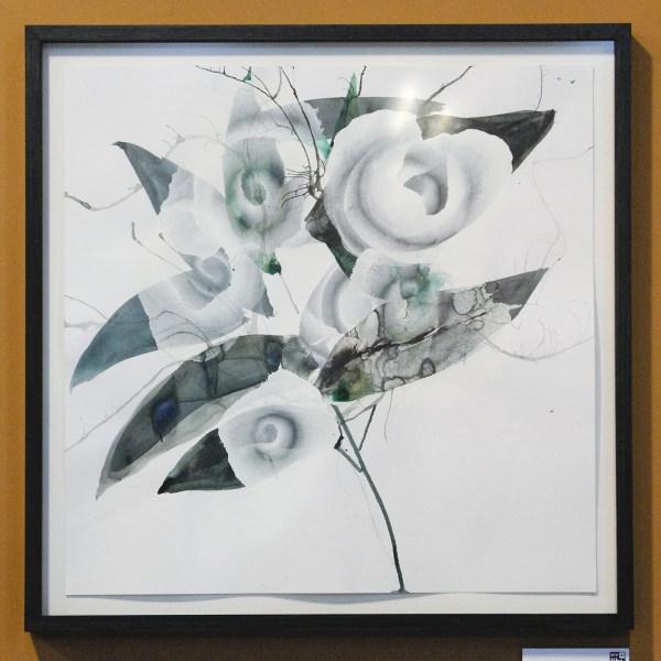 Reinoud van Vught - Zonder Titel - Acrylverf en inkt op papier €800,-