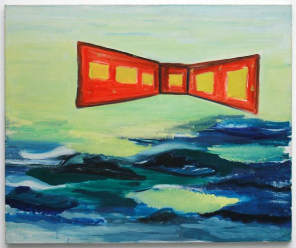 Rene Daniels - De Slag om de Twintigste Eeuw - Olieverf op doek