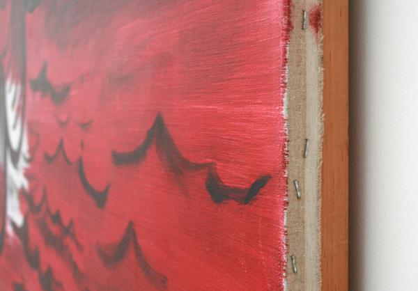 Rene Daniels - Ondergronds verbonden - Olieverf op canvas (detail)