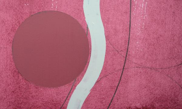 Rene Korten - Dub 2 Cellar Door - 120x154cm Acrylverf , grafiet en houtskool op MDF (detail)
