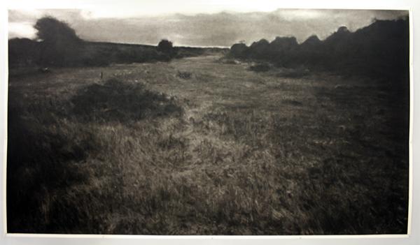 Renie Spoelstra - Land #1 (Voor Renzo) - Houtskool op papier