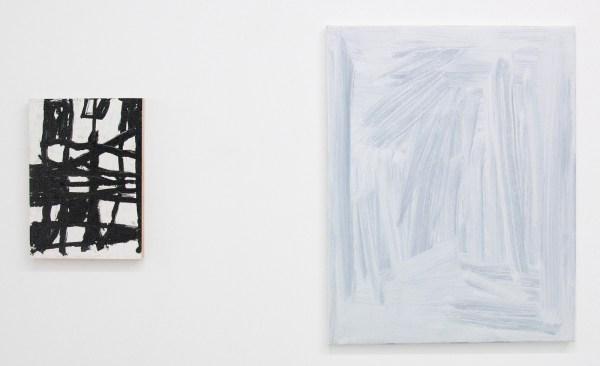 Richard Aldrich - 2 and Baby - 34x25cm Olieverf, was en oliepastel op paneel & Robin Heyker - Kings Spareribs - 70x55cm Acrylverf en olieverf op canvas
