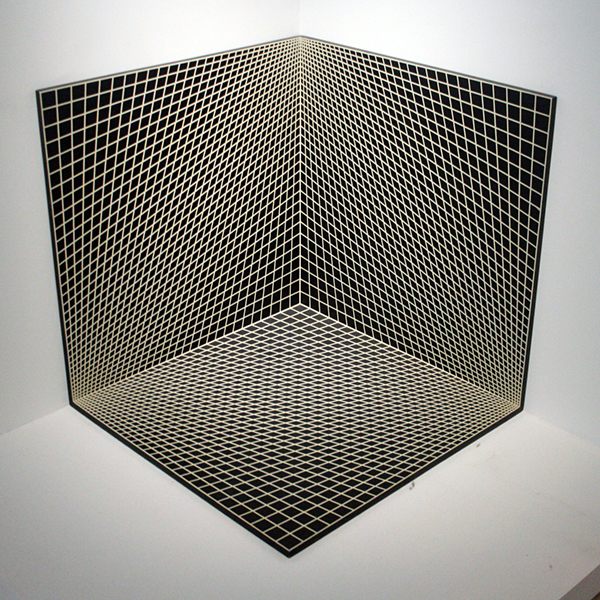 Richard Anuszkiewicz - Concave and Convex - Three Unit Dimensional - Emaile op plaat