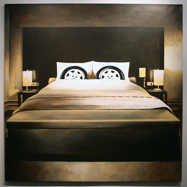 Rob Scholte - 1 Night Stand - 150x150cm Acrylverf op linnen