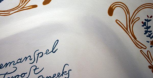 Rob Scholte - Blind Man - 150x150cm Acrylverf op linnen (detail)