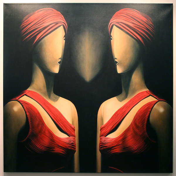 Rob Scholte - Little Red Riding Hood - 150x150cm Acrylverf op linnen