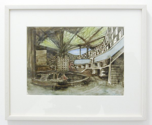 Rob Voerman - Incinerator - 31x22cm Aquarel en potlood op papier
