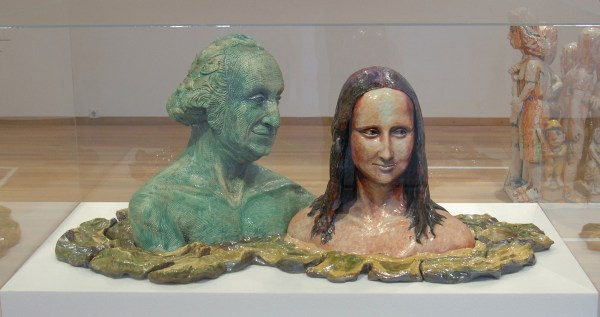 Robert Arneson - George and Mona in the Baths of Coloma - Geglazuurd Faience, 1976