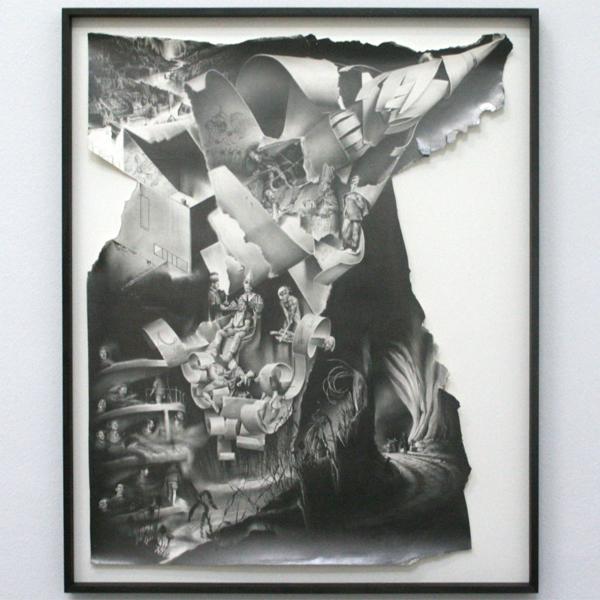 Robert McNally - Mariana Trench - Potlood op papier