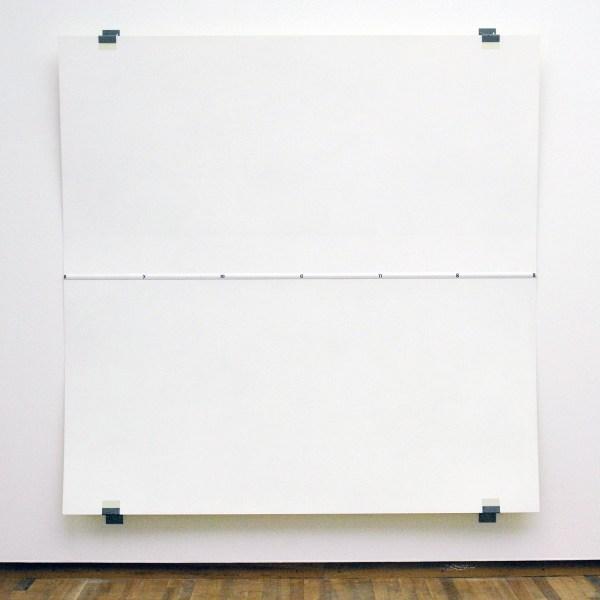 Robert Ryman - Journal - Acrylverf op kunststof en stalen steunen, 1988