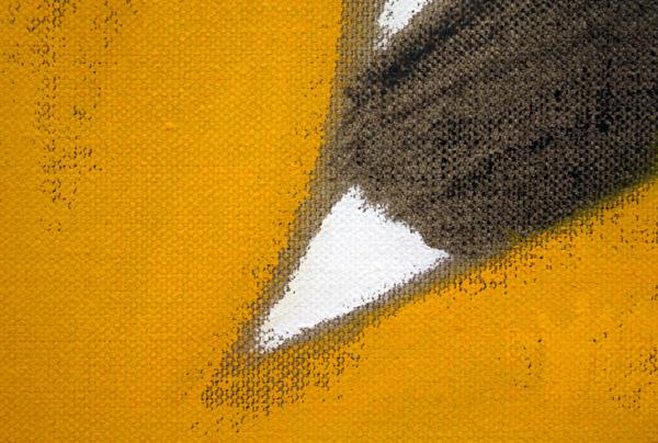 Robert Zandvliet - Red Studio - Gesso en eitempera op linnen (detail)