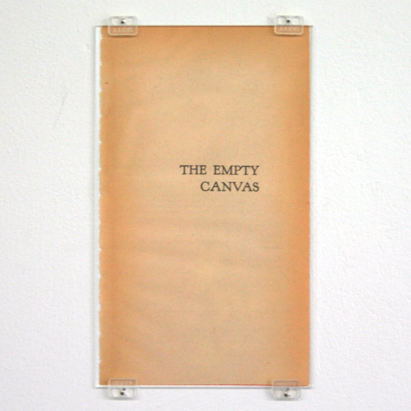 Robin Waart - The Empty Canvas - Papier