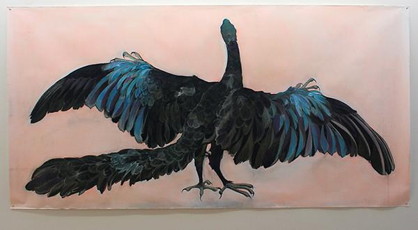 Roos Holleman - Archaeopteryx - 150x300cm Pastel en Siberisch krijt op papier