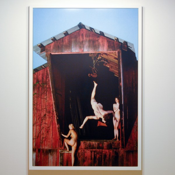 Ryan McGinley - Barn Flip (Red) - 182x121cm C-print
