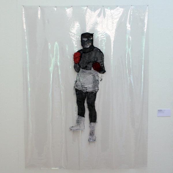 Saminte Ekeland - I am the Greatest II - Kunststof, garen, zijde en acrylverf