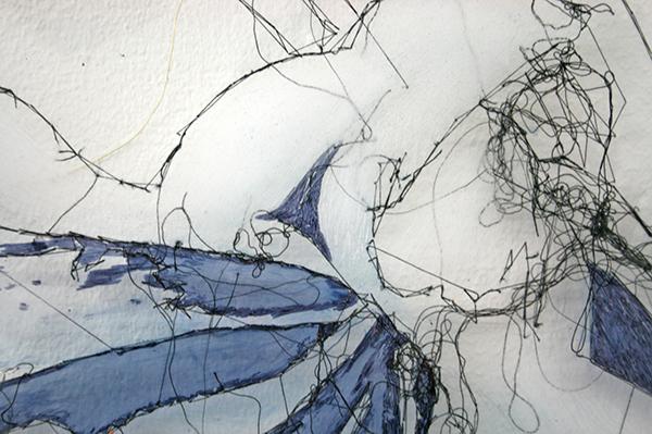 Saminte Ekeland - Lily - 92x138cm Borduursel met polyesther, acryl nylon en garen (detail)