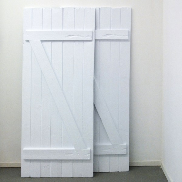 Sarah & Charles - Two Barn Doors - Witte PVC