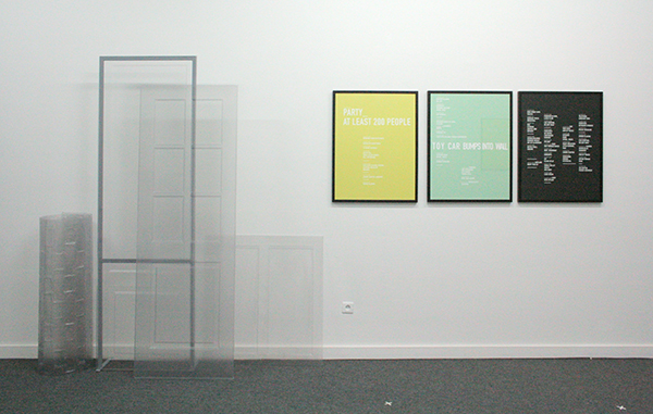 Sarah & Charles - Two Doors, Two Windows, Brick Wall - Instalatie, PVCen staal & Sounds - 60x80cm Pigment op papier