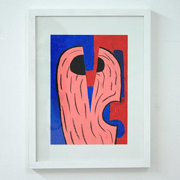 Sarah Verbeek - Untitled - 30x20cm Acrylverf en oliepastel op papier