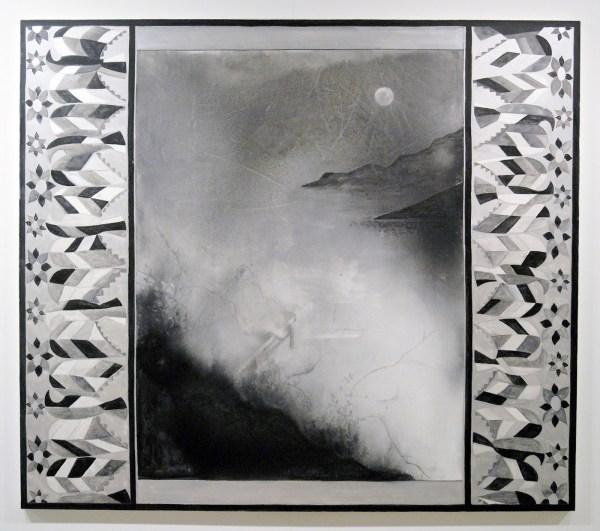 Silke Otto-Knapp - Frontcloth (Mondaufgang) - Aquarel en gouache op doek, 2011
